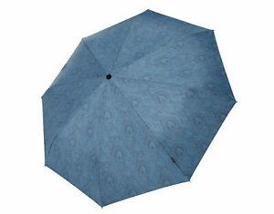 Knirps T2 Duomatic Parapluie Arabesque Petrol Bleu Nouveau-afficher Le Titre D'origine