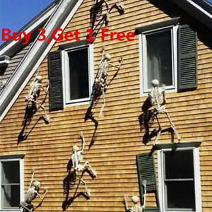 90cm Halloween Props Decoration Luminous Hanging Skeleton Scary Party Wall UK