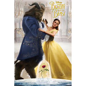 Beauty-And-The-Beast-Dancing-POSTER-61x91cm-NEW-Disney-Belle-Emma-Watson