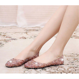 Women-039-s-Casual-Shoes-Jelly-Hollow-Out-Flat-Heel-Sandals-Flip-Flops-Plus-Size-Ths