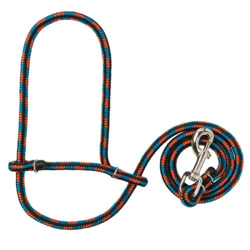Weaver Sheep Lamb Goat Parachute Rope Halter Snap 52 Lead Rope Blue Orange Black