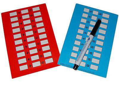 2x/scrittura, Calcolo Matematica Abilità Pratica Dry Pulire Le Carte & Penna-mostra Il Titolo Originale In Viaggio
