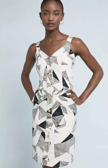 NEW $398 Anthropologie SISSA Daisy Days Denim Dress Size 2 or 8 Green Floral