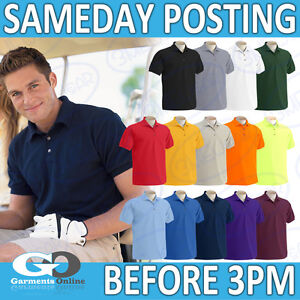 Gildan-Camiseta-Polo-Hombres-Facil-Cuidado-Ropa-De-Trabajo-Uniforme-Escolar-Plain-Top-74800-Adultos