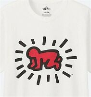 Keith Haring X Uniqlo 'radiant Baby' Sprz Ny Art T-shirt M Red/black On Wht