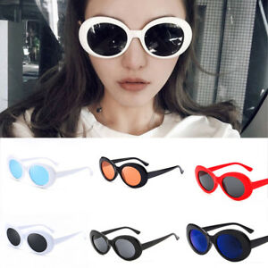 ec27a8a9ae7d6 Image is loading Retro-Clout-Goggles-Unisex-Sunglasses-Rapper-Oval-Shades-