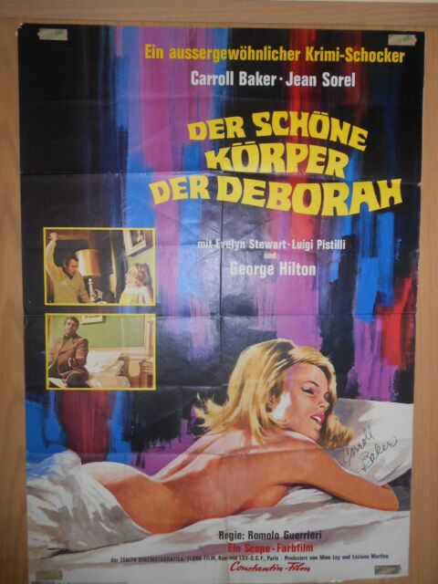 Caroll Baker Original Signiert Kinoplakat Der schöne Körper der Deborah *26