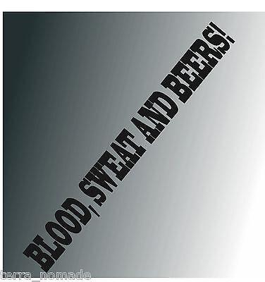 Blood Sweat And Beer Gas Fast Loud Hot Rod VW Euro Monkey Van Sticker vinyl bs2