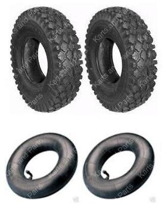 (2) 4.10 x 3.50 - 6 Tires & (2) Tubes Go-Kart Cart GoKart GoCart Mini-Bike