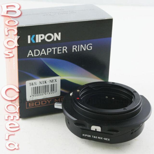 Kipon Tilt /& Shift Adaptador Para Nikon F Lente Sony E Monte Nex-5r 6 7 5t A6000