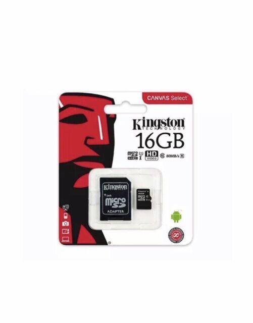Kingston 16GB Micro SD Card SDHC Class 4 Memory SD Card + Adapter