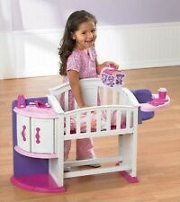 Baby Doll Nursery Play Set Crib Highchair Cradle Pretend Toddler