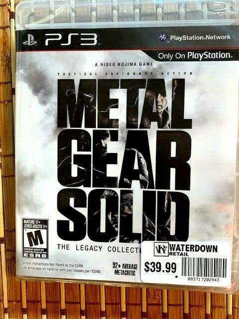 Metal Gear Solid: The Legacy Collection (Playstation 3)- Free CDN Shipping**