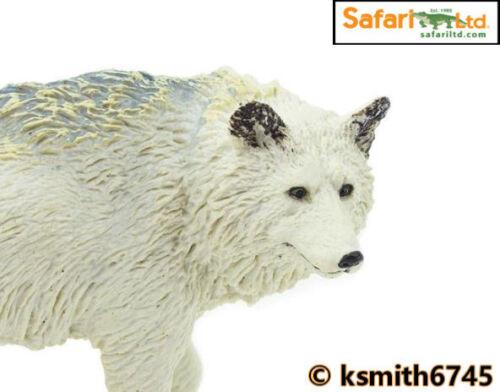 NEW Safari ARCTIC WOLF solid plastic toy wild zoo white animal dog predator