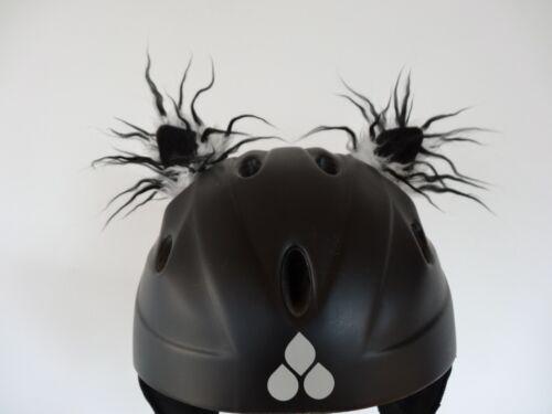 KATZENOHREN OHREN Helm Skihelm schwarz weiss   Helmohren Kinder Fahrradhelm