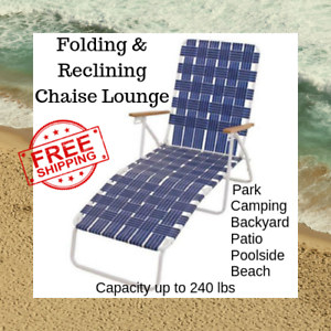 Outstanding Details About New Outdoor Folding Reclining Beach Sun Patio Chaise Lounge Chair Pool Lawn Caraccident5 Cool Chair Designs And Ideas Caraccident5Info