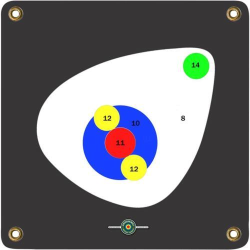 "ArrowMat Target Face 17/""X17/"" 3D Scoring Rings"