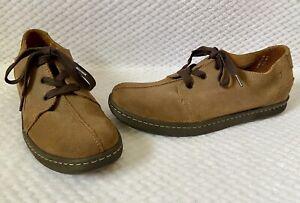 Born-Brown-Suede-Leather-Lace-up-Split-Toe-Casual-Oxfords-Shoes-Mens-11-5-VGUC