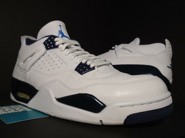 NIKE AIR JORDAN IV 4 RETRO LS WHITE LEGEND blueE NAVY COLUMBIA 314254-107 OG 10.5