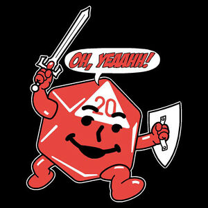 T-Shirt Oh Yeah! Kool Aid Man d20 Games RPGs D&D Natural 20 OffWorld Designs
