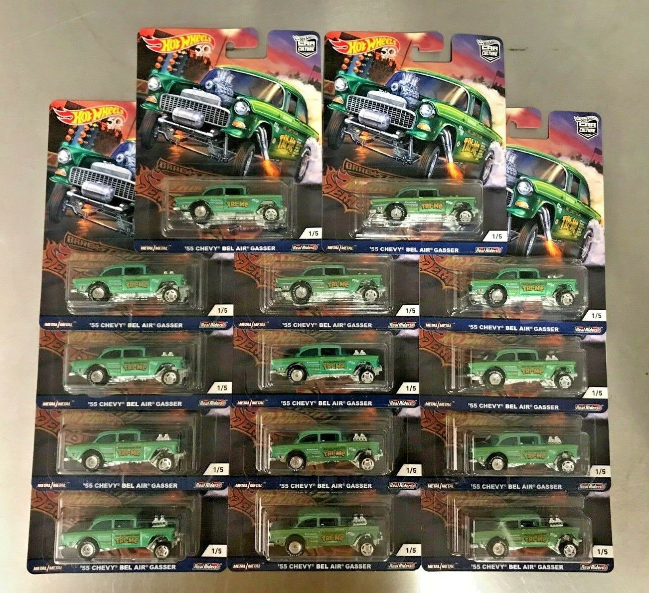 New LOT of 14 Hot Wheels Drag Strip Demons '55 Chevy Bel Air Gasser Muscle Rare