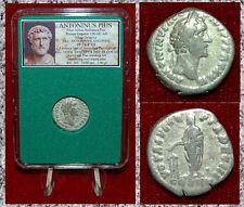 Ancient Roman Empire Coin Of ANTONINUS PIUS Sacreficing Reverse Silver Denarius