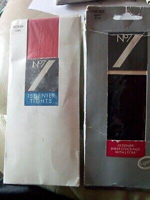 2019 Ultimo Disegno Vintage N. 7 Collant E Calze X 2 In Confezione Originale- Qualità Eccellente