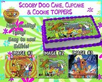 Scooby Doo Edible Cake Toppers Picture Sugar Paper Birthday Cupcakes Sugar Sheet