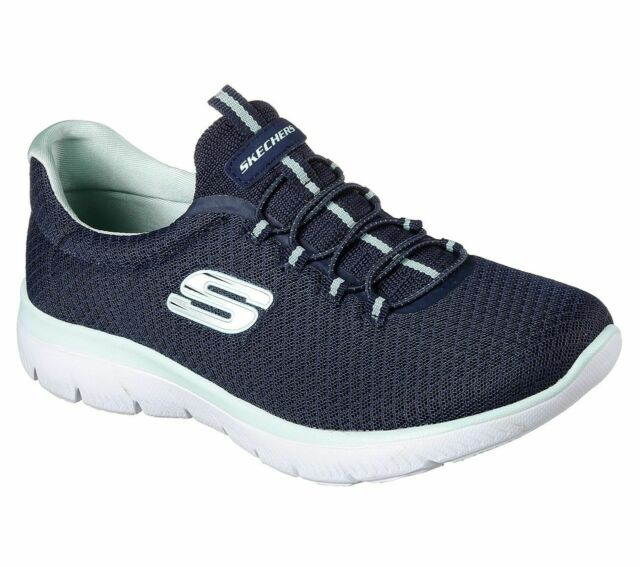 Skechers Damen 12980 Sneakers, Blau (NavyAqua), 39 EU
