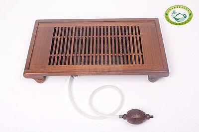 """QiFeng Wenge Wood Gongfu Tea Table Serving Tray 19.68""""x11"""" / 50cm*28cm"""
