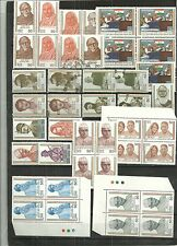 INDIA- INDIA'S STRUGGLE FOR FREEDOM SERIES IN MANY BLOCKS, SINGLES, SPECIAL CANC