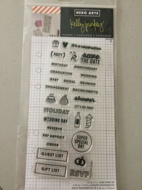 Hero Arts Kelly Purkey CL921 Clear Stamp Set Occasion Planner Stamps