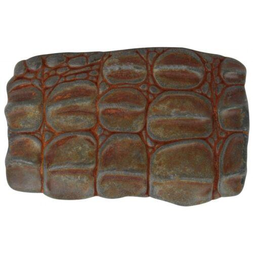Ceinture joins bicolores plate 4,0 cm REPTILE écailles alligator animal
