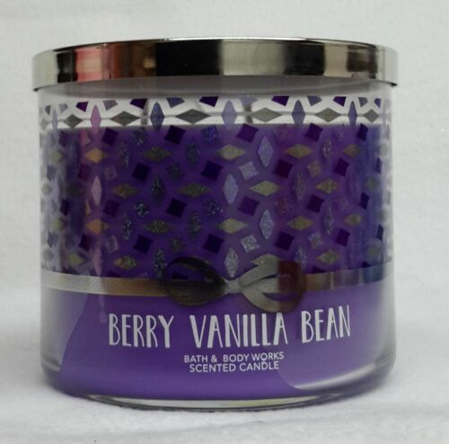 1 Bath & Body Works BERRY VANILLA BEAN 3Wick 14.5 oz Scented Candle