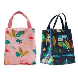 64dc38c3e18d Details about Cute Animal Portable Insulated Cotton Cooler Picnic Lunch Bag  Thermal Food Tote