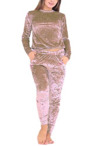oro coordinati argento moka rosa Velor donne Lounge Nuove schiacciate blu pezzi Tuta Jogger Wear grigio vino scuro kaki Nero Velvet scuro 2 1awf1q