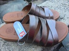 744b7ad82 item 1 NEW FitFlop Womens Lumy Leather Criss-Cross Slide Bronze Sandal - US  5 -NEW FitFlop Womens Lumy Leather Criss-Cross Slide Bronze Sandal - US 5