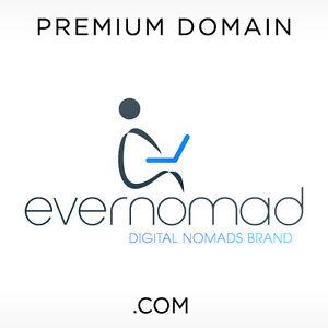 EverNomad-COM-Domain-Name-Sale-PREMIUM-BRANDABLE-Rare-GoDaddy-Digital-Nomad
