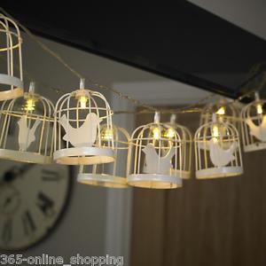 10x-de-luxe-a-piles-Cage-d-039-oiseau-interieur-exterieur-Fee-LED-fil-lightsuk