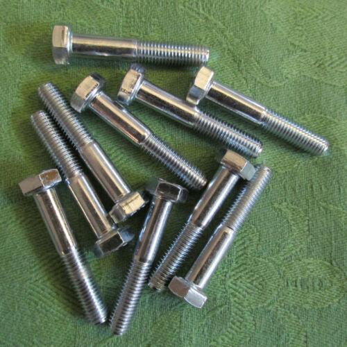Din 931//8.8 verzinkt M 7x40 NEU 10 Stück Sechskantschrauben