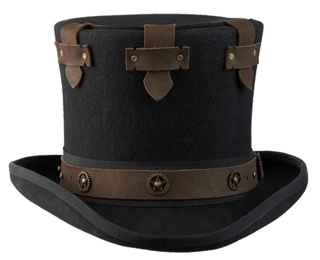 NEW Conner Hats STEAMPUNK Hat Australian Wool Secret Compartment Top Hat STEAMPUNK C1070 4fb4f0