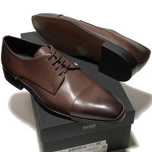 b834227dbdf SPECIAL! HUGO BOSS Dark Brown Leather COLOSONS Captoe Men s Oxford ...