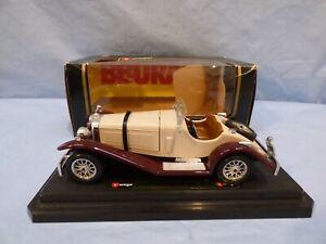 Burago-1-24-1928-Mercedes-Benz-Ssk-W06-Coche-Modelo-Diecast-Marron-Crema-3-Toy-Lupin