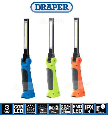 Draper Slimline Sans Fil DEL Rechargeable Inspection Magnétique lampe Torche