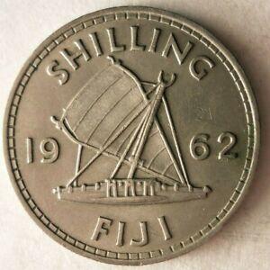 1962-Fiji-Chelin-Excelente-Bajo-Acunacion-Moneda-Ganga-Bin-58