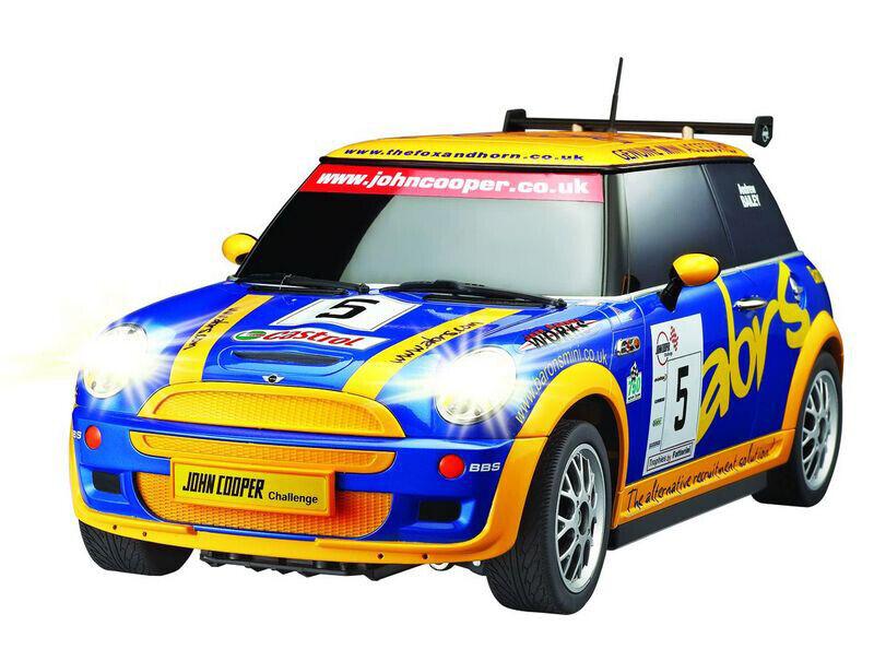 Ferngesteuertes Auto MINI Cooper S 1 10 blau-gelb (91049)