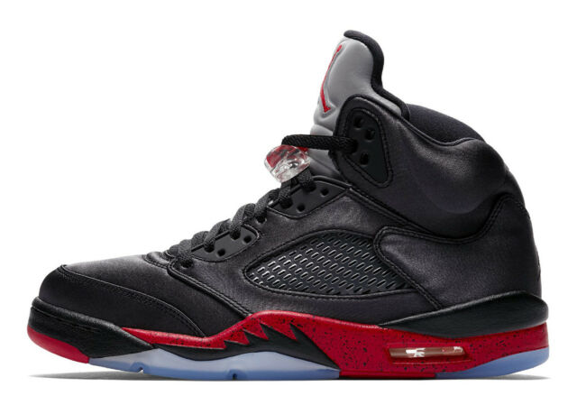 huge discount ccbab a0fb2 2018 Nike Air Jordan 5 V Retro SZ 10 Satin Bred Black Fire Red OG 136027-006
