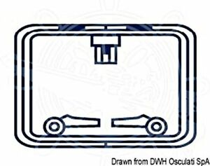 OCEANSOUTH Boat Marine Hatch Protection Cover Square Blue 330x330mm