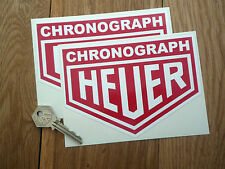 HEUER CHRONOGRAPH 6 inch classic racing car F1 stickers