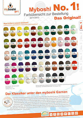my boshi orginal no. 1 50 g Mützen Häkelwolle Mützenhäkeln pro 3 Knäuel 1 Label